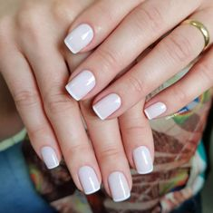 Dicas para fazer unhas francesinhas perfeitas Short Nails, Fun Nails, Nail Art, My Favorite Things, Nail Ideas, Amanda, Minnie Mouse, Light Nails, Perfect Nails