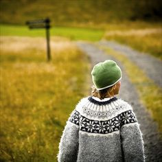 """""""Country Boy"""" near Reykjavik, wearing the traditonal """"lopapeysa""""."""