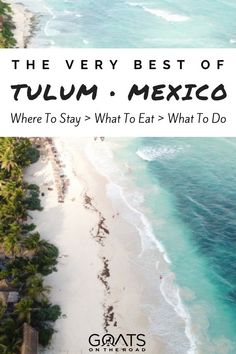 Planning your next vacation or looking for honeymoon inspiration? There's lots of romantic, adventurous and luxury things to do in Tulum, Mexico - check it out | #nextvacation #vacationinspiration #honeymoon #beautifuldestinations #luxurytravel #coupletravel #mexico #tulum #bestofmexico #mexicobeaches