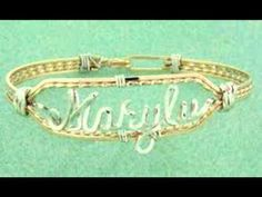 How To Make Name Bracelets - http://videos.silverjewelry.be/bracelets/how-to-make-name-bracelets/
