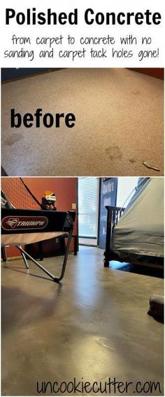 I'm walking you though how I ripped up the carpet and got the polished concrete floors with no sanding, no remaining carpet tack holes and low cost! Polished Concrete Floors – The Easiest Way! – Uncookie Cutter Source by