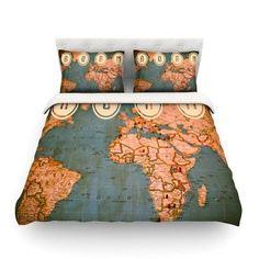 KESS InHouse Roam II by Ann Barnes Featherweight Duvet Cover Size: King/California King, Fabric: Cotton