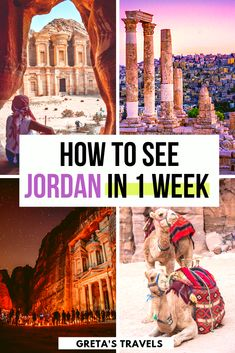 How to See Jordan in 1 Week: Jordan 7 Day Itinerary - Plan your perfect trip to Jordan with this 1 week Jordan itinerary. How to see Jordan in 7 days! Travel Advice, Travel Guides, Travel Tips, Travel Hacks, Travel Packing, Travel Plane, Travel Vlog, Shopping Travel, Travel Gadgets
