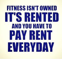 Fitness isn't owned