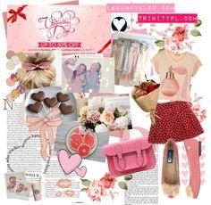 """""""LeBunny Bleu - Pink Bunny Tail Ballet Flats v.2"""" by lebunnybleu on Polyvore"""
