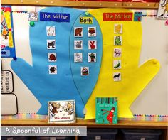 The Mitten! Math and Literacy Activities! Kindergarten Classroom, Winter Activities, Kindergarten Activities, Classroom Activities, Book Activities, Preschool Winter, Educational Activities, Classroom Themes, Creative Curriculum