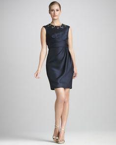MOTB? Bead-Neck Cocktail Dress