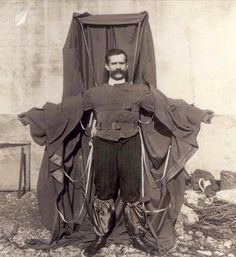 German inventor Franz Reichelt was so confident in his 1912 parachute jacket that he jumped off the Eiffel Tower to test it out. His hubris was unfortunately unfounded & he fell to this death in front of a crowd of horrified onlookers.