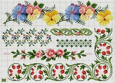 ru / Фото - A punto croce Speciale bordure - Los-ku-tik Cross Stitch Borders, Cross Stitch Alphabet, Cross Stitch Flowers, Cross Stitch Charts, Cross Stitch Designs, Cross Stitching, Cross Stitch Embroidery, Cross Stitch Patterns, Needlepoint Patterns