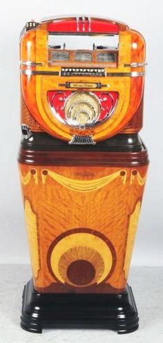 Wurlitzer Model 81 Jukebox. : #jukebox #music #vintageaudio http://www.pinterest.com/TheHitman14/ghosts-of-audios-past/