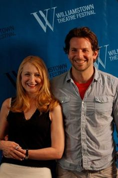 "Actress Patricia Clarkson, left, and actor Bradley Cooper, right, pose for photos during a press availability for their roles in ""The Elephant Man"" as part of the 2012 Williamstown Theatre Festival season, Tuesday, July 3, 2012 in Williamstown, Mass.  The production will run on the Nikos Stage from July 25 through August 5. (Dan Little/Special to the Times Union)"