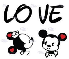 mickey y minnie love - Buscar con Google