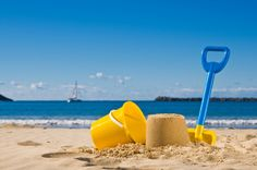 Sand,spade and bucket. Shot of the beach with a spade and bucket in foreground , Beach Volley, Beach Bum, Seaside Theme, Seaside Towns, Bucket And Spade, Beach Toys, Beach Essentials, Cartoon Background, Family Day