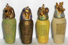 Ancient Eygptian Canopic Jars: Different Canopic Jars