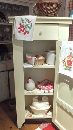 Ash Tree Cottage: July 2013 ~~~ painted jelly cabinet.