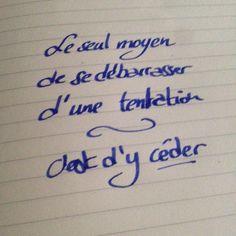 #Tentation 2 #qotd #DCAout