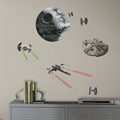 RoomMates RMK3012SCS Star Wars EP VII Spaceships P&S Wall Decals