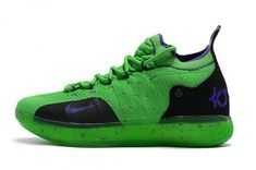 3c387a658d1e Latest 2018 new nike kd 11 green black purple basketball shoes Discount Sale