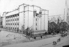 Frank Lloyd Wright's Larkin administrative building in Buffalo, NY (1906)