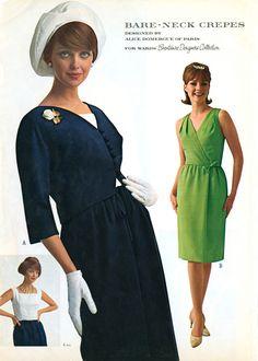 Vintage 1950s Era Lee Richard Fashions Dress Designed by Sayde Madmen Vintage Size 10