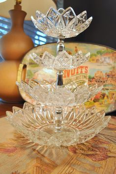 Rare Vintage Depression Federal Glass Petal Design 4 by TumptOver, $48.00