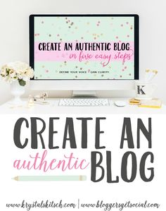 Download this free blog workbook to create an authentic brand. Define your purpose and refine your vision. Develop clarity and boost your blog!