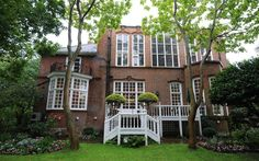 The exterior of the Queen-Anne style house located in the Borough of Kensington and said to be worth around £6 million