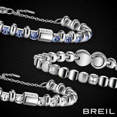 #BREIL reinterpreta il braccialetto Tennis: l'acciaio è ancora protagonista, alleggerito grazie all'inserimento di cristalli colorati.