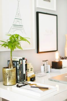 Decorate office desk Wall How To Style The West Elm Parsons Desk 268 Best Decorate Your Work Space Images Diy Creative Ideas