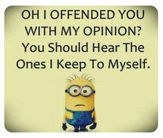 Everyone loves minion, so what is better then minions with a funny attitude? Here we have 50 funny minion quotes all with a fun and sarcastic attitude that will have you laughing out loud. These minion quotes are funny and relatable, especially. Funny Minion Pictures, Funny Minion Memes, Minions Quotes, Funny Jokes, Minions Pics, Fun Funny, Minion Stuff, Hilarious Sayings, Minion Humor