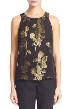 Joie 'Kastra' Metallic Floral Tank (Nordstrom Exclusive) available at #Nordstrom