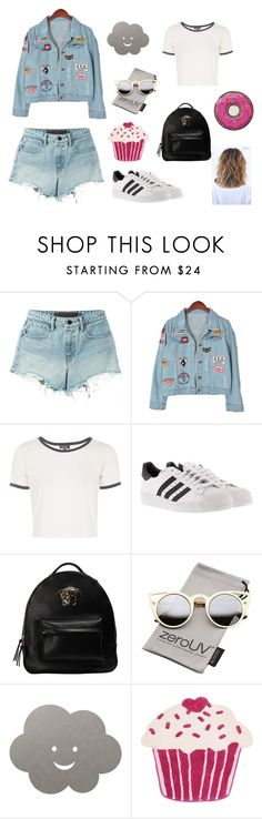 """""""Sin título #42"""" by enmaandrea-1 on Polyvore featuring T By Alexander Wang, Chicnova Fashion, Topshop, adidas, Versace, ZeroUV, LIND DNA, Thro y Round Towel Co."""