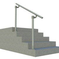 Easy to install stair handrail kits for your outdoor steps. Browse our metal handrail step kits and buy online. Perfect for porch and exterior entry stairs. Outdoor Stair Railing Kit, Exterior Stair Railing, Metal Stair Railing, Modern Railing, Outdoor Steps, Stair Handrail, Railings, Handrail Parts, Handrail Ideas