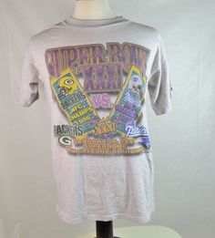 #Vintage #Logo7 #GreenBay #Packers vs #NewEngland #Patriots #SuperBowl XXXI T shirt for sale in my ebay store