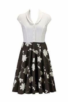 eShakti Women's Floral embellished houndstooth two-fer dress XS-0 Short Cream/gray/black eShakti,http://www.amazon.com/dp/B00HGDUC20/ref=cm_sw_r_pi_dp_R9Sntb17TPW9208V