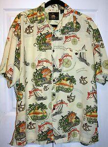 Jimmy Buffet Margaritaville Mens Hawaiian Shirt Large Changes in ...