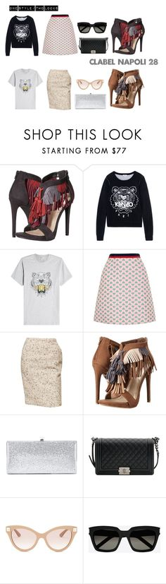 """""""C-LABEL Footwear NAPOLI 28"""" by clabelfootwear on Polyvore featuring C Label, Kenzo, Gucci, Chanel, Jimmy Choo, Valentino and Yves Saint Laurent"""