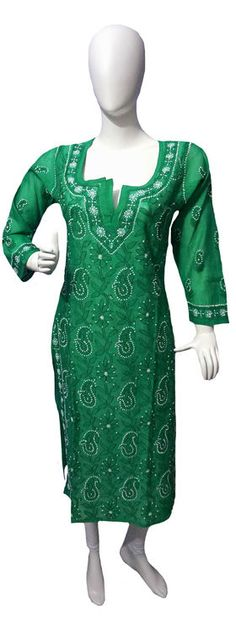 Self Design Lucknowi Chikan Kurti List price: Rs1385   Rs855 You save: Rs530 (38%)  Specifications GENERAL DETAILS PatternSelf Design Ideal ForWomen's OccasionCasual / Daily