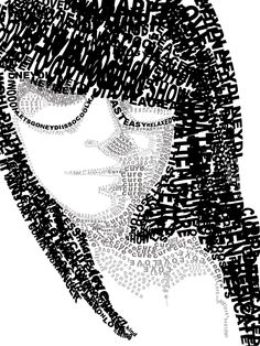 Typography Self Portrait.  By neydi. Lines and phrases give value, power of visual and written together.