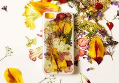 DIY Pressed Flower iPhone Case via the Etsy blog