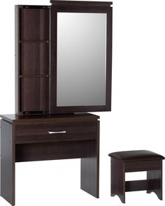 Home furniture sale. Thinking about buying Charles 1 Drawer ... Check it out here http://discountsland.co.uk/products/charles-1-drawer-dressing-table-set-in-walnut-effect-veneer-brown-faux-leather?utm_campaign=social_autopilot&utm_source=pin&utm_medium=pin #furnituresale #discountsland