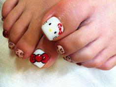 Image of Hello Kitty foot ☆   Jiyugaoka-Okusawa-Midorigaoka Nail Salon nail flavors staff blo ...