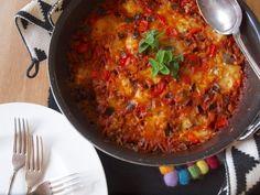 One Pot Pasta (4): Kritharaki mit Aubergine und Paprika | alles aus dem garten