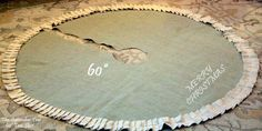 Burlap tree skirt green Christmas Decor 60 by TheSeptemberTree, $80.00