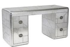 Journey Bomber Desk – Katy Furniture Home Office Desks, Office Furniture, Unique Desks, Interior Design, Industrial, Journey, Home Decor, Nest Design, Decoration Home