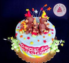 Torty z Pasją:Tort Misie, Teddy Bear cake, fondant. #torty #misie