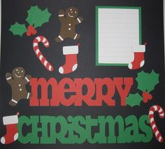 MERRY CHRISTMAS Scrapbook Border Set Page by easyscrapbooking, $7.50