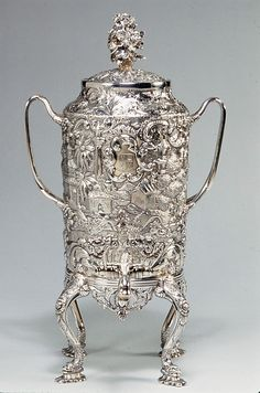 Coffee Urn Andrew Ellicott Warner  (1786–1870) Date: 1845 Geography: Mid-Atlantic, Baltimore, Maryland, United States Culture: American Medium: Silver