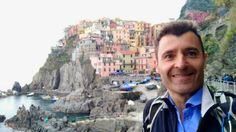 Feeling like a tourist while in Quite crowded despite the gray weather. Riomaggiore, Cinque Terre, Crowd, Mount Rushmore, Hiking, Weather, Mountains, Gray, Feelings