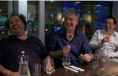 Bill Brownstein interviews Anthony Bourdain on his recent trip to Montreal for his new series The Layover (which almost laid him flat, thanks to co-conspirators Martin Picard, left, and Normand Laprise, right) New Series, Culinary Arts, Wine Recipes, Montreal, Interview, Flat, Celebrities, People, Kitchens